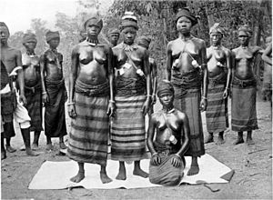 Sande society - Sande society initiates, Sierra Leone.