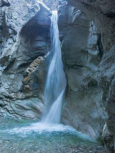 Burggrabenklamm waterfall