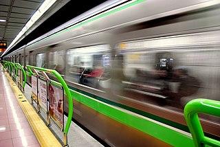 The subway system of Busan, South Korea