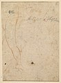 Bust of a Warrior Wearing a Plumed Helmet, Looking Toward Spectator Over His Right Shoulder (recto); Sketch of a Leg (verso) MET DP811289.jpg