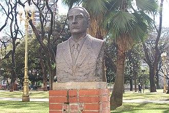 Manuel Gálvez - A bust of Gálvez in Buenos Aires.