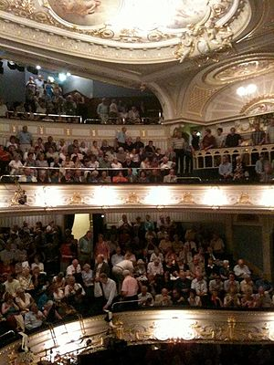Buxton Opera House - Upper tiers in the house