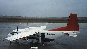 CASA C-212 Aviocar - CASA C-212-200 of Northwest Airlink operating a scheduled flight at Flint, Michigan, in April 1986