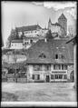 CH-NB - Lucens, château, vue partielle extérieure - Collection Max van Berchem - EAD-7346.tif