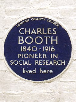 Charles booth 1840 1916 pioneer in social research lived here