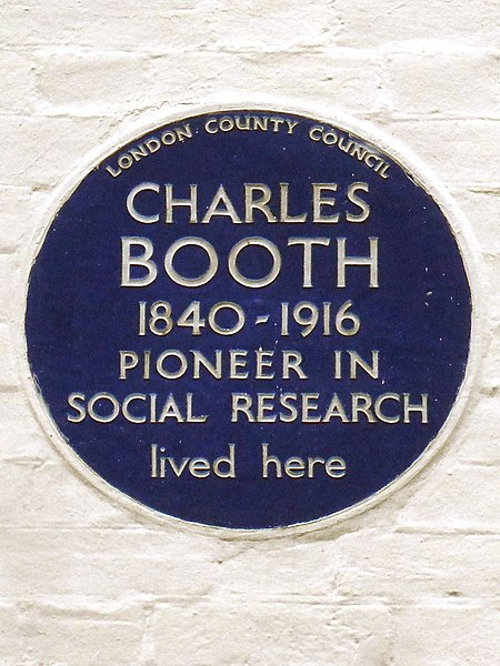 File:CHARLES BOOTH 1840-1916 PIONEER IN SOCIAL RESEARCH lived here.jpg