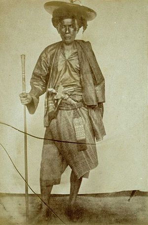 Penghulu - Portrait of a penghulu from a Royal Netherlands Geographical Society expedition to Central Sumatra in the late 19th century (photo by D.D. Veth)