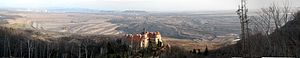Lom ČSA - Mining operations viewed from Jezeří Chateau