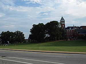 Clemson University Historic District I - Image: CU Tillman Hall & Bowman Field Aug 2010