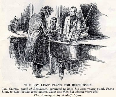 CZERNY´S PUPIL LISZT PLAYS FOR BEETHOVEN