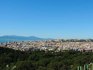 Cagliari, panorama from Monti Urpinu Park