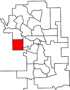 Calgary-West - 2010 boundaries