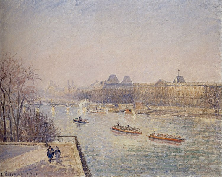 File:Camille Pissarro (1830-1903) - 'Morning, Winter Sunshine, Frost, the Pont-Neuf, the Seine, the Louvre, Soleil D'hiver Gella Blanc', ca. 1901.jpg