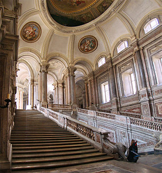 Royal Palace of Caserta - Grand Staircase of Honour.
