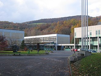 Johannes Kepler University Linz - Center of JKU's campus in autumn