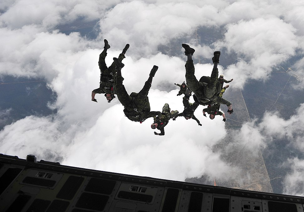 Canadian special operations regiment freefall jump at Hurlburt Field