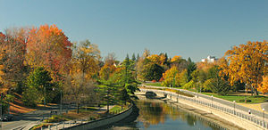 The Glebe - The Rideau Canal passing through the Glebe