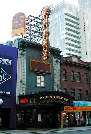 Ed Mirvish Theatre - The Canon Theatre in November 2005, viewed from in front of the Eaton Centre on Yonge Street.