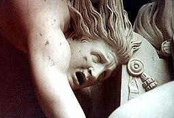 Hércules y Lica (detalle) de Antonio Canova
