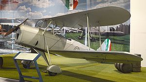 Caproni Ca.164 - The prototype Ca.163 on display at the Caproni Museum, Trento.
