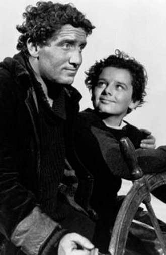 Captains Courageous (1937 film) - Tracy and Bartholomew as Manuel and Harvey