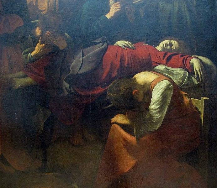 File:Caravaggio, morte della vergine, 1601-1606 ca. 02.JPG