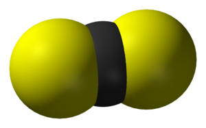 Carbon disulfide - Image: Carbon disulfide 3D vd W