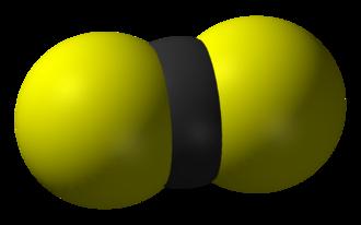 Carbon disulfide - Image: Carbon disulfide 3D vd W