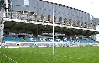 2015 European Cup - Image: Cardiff Arms Park and Millennium Stadium
