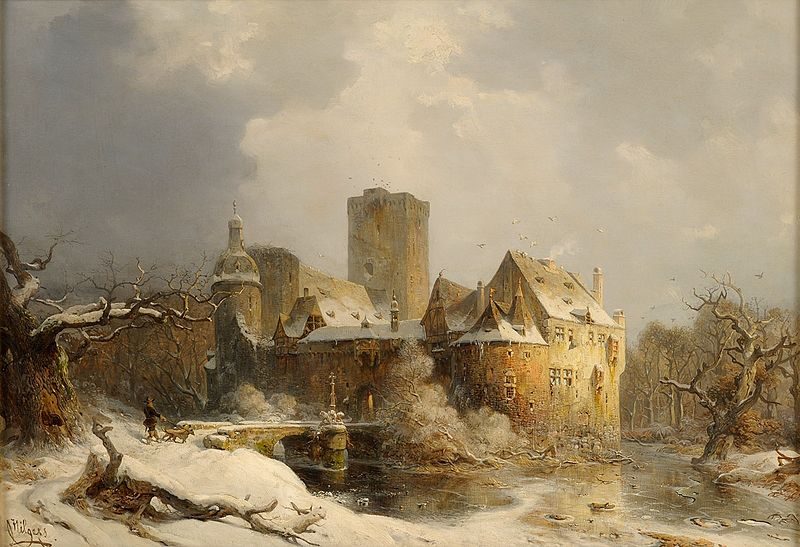 File:Carl Hilgers Winterliches Wasserschloss.jpg