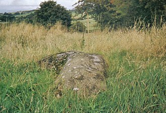 Carlin stone - A view of the Carlin or Hag's stone in Dunlop.
