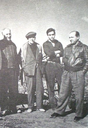 Santiago del Estero Province - Argentine artists relax at the Río Hondo Hot Springs, 1958.