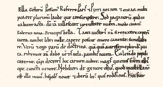 El Cid - First paragraph of the Carmen Campidoctoris, the earliest literary treatment of El Cid's life, written  to celebrate El Cid's defeat of some counts and champions