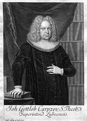 Johann Gottlob Carpzov - Johann Gottlob Carpzov.