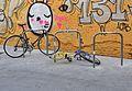 Carrer de la Mare Vella de València, aparcador de bicicletes.JPG