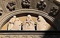 Casale monferrato, chiesa di san domenico, portale del 1510 ca. 06 lunetta con guglielmo VIII, bonifacio paleologo, maria di serbia e guglielmo IX.jpg