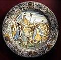 Castelli, francesco grue (attr.), piatto con il trionfo di scipione, 1661-68 ca..JPG