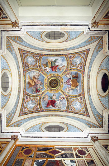 Este Castle of Ferrara, Ducal Chapel, fresco o...