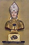 Castelnau-d'Estrétefonds Eglise - Buste-reliquaire de saint Blaise IM31000101.jpg