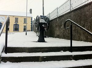 """Castledawson - The old water pump at """"the gravel"""", Main Street"""