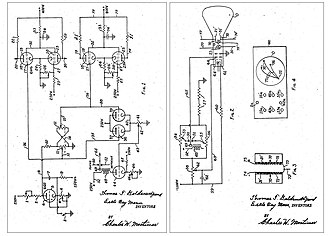 Early history of video games - Circuitry schematic from the patent for the cathode-ray tube amusement device