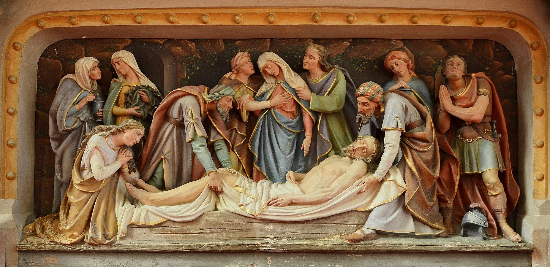 Resultado de imagem para Depois de retirado da Cruz, Jesus foi colocado num túmulo, por um fariseu chamado José de Arimateia.