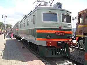 ChS3-45 at the Moscow Railway Museum, Rizhsky Rail Terminal (1).JPG