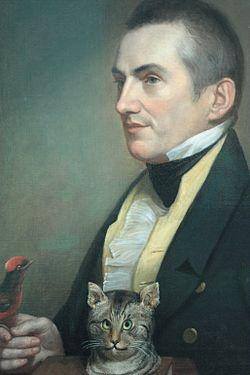 Charles waterton by charles wilson peale, 1824, national gallery, london