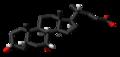 Chenodeoxycholic acid 3D skeletal.png