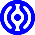 Cheondoism symbol dark blue.PNG