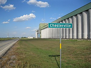 Chesterville, Texas - Image: Chesterville TX Sign on FM 1093