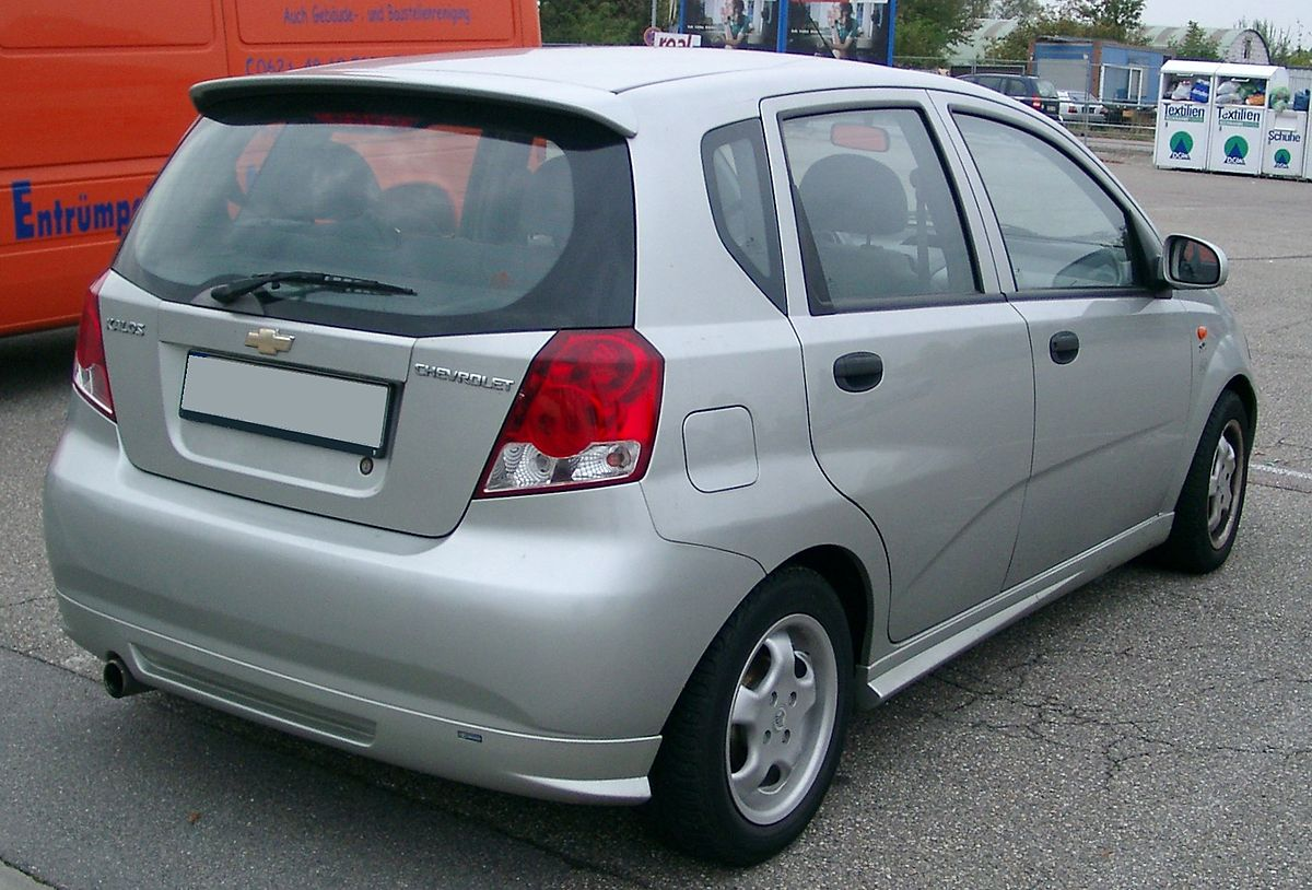 File Chevrolet Kalos Rear 20070928 Jpg Wikimedia Commons
