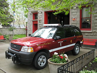 Organization of the Chicago Fire Department - CFD 1st Battalion Chief's SUV