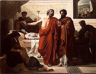 François Chifflart - Image: Chifflart Périclès au lit de mort de son fils